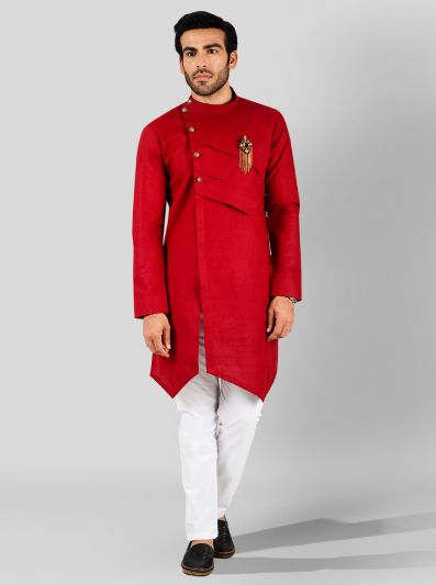 Dark Red Kurta | Azania
