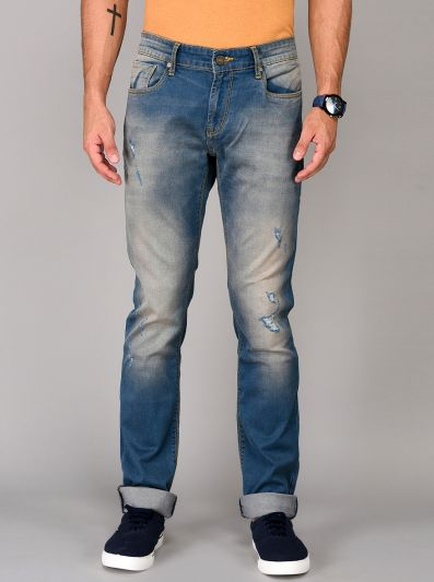 Sterling Blue Straight Fit Jeans | JB Sport