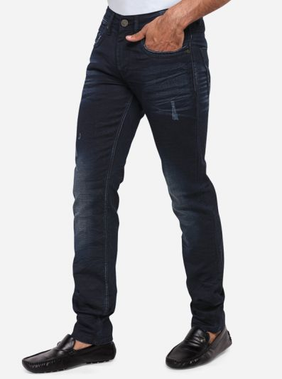 Night Blue Washed Slim Fit Jeans | JadeBlue