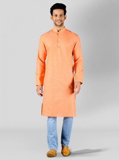 Sunset Orange Kurta | Azania