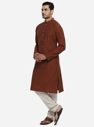 Brown Kurta | Azania